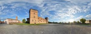 Foto panoramica del Castello di Pandino (CR)